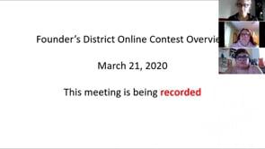 Online Speech Contest Training